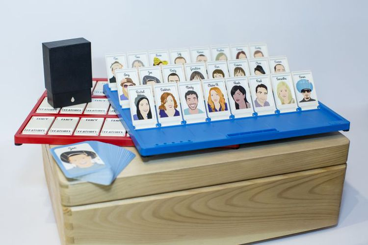Fancy Features Personalised Guess Who. original unusual bespoke personalised wedding birthday gifts ideas