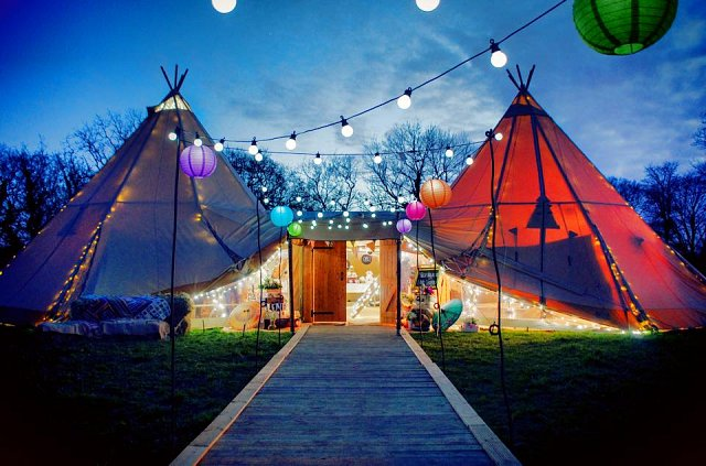 & Weddings Under Canvas - bring your party to life with a teepee!